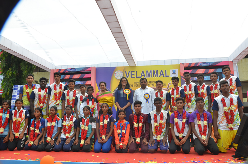 P V Sindhu Presented Velammal Sports Scholarship Awards