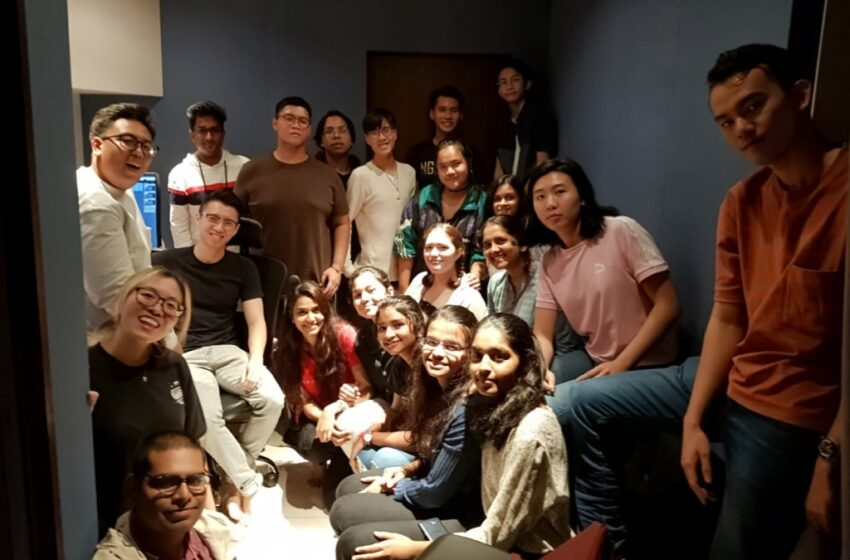 'Pollaadha Ulagil Bayankara Game' Movie Team in Singapore for Sound Design and Recording