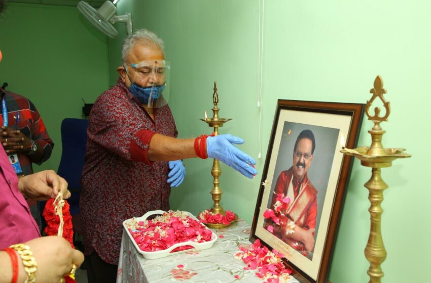 Dubbing studio in memory of the legendary singer and dubbing artiste Shri.SPB
